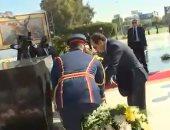 """فيديو.. السيسى يضع إكليلا زهور على قبر الجندى المجهول ويجتمع بـ """"الأعلى للقوات المسلحة"""""""