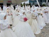 صور.. حفل زفاف جماعى فى الشيشان بمناسبة الذكرى الـ 200 لتأسيس جروزنى