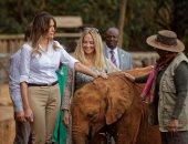 ميلانيا ترامب تزور المحمية الوطنية فى كينيا فى إطار جولتها الإفريقية