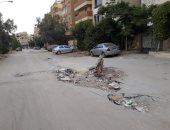 قارئ يشكو من هبوط أرضى و طفح مجارى أسفل محور الكفراوى بمدينة 6 أكتوبر