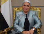 انتصار السيسى تدلى بصوتها فى الاستفتاء على تعديلات الدستور بمصر الجديدة