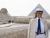 سحر القاهرة يحيط ميلانيا ترامب ..نشرت فيديو من داخل الأهرامات وكتبت: شكرا مصر