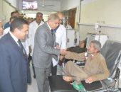 صور.. محافظ المنيا يتابع أعمال تطوير وإنشاء مستشفى ملوى العام