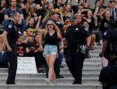 صور..احتجاجات بمحيط المحكمة العليا الأمريكية بعد تصويت الكونجرس لصالح كافانو