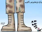 """""""القزمة"""" آيات عرابى تهاجم نصر أكتوبر المجيد.. كاريكاتير"""