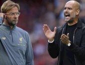كلوب وجوارديولا.. صراع الغريمين يشعل قمة ليفربول ضد مانشستر سيتي