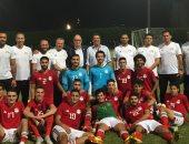فيديو.. أبو ريدة وأجيرى فى ودية المنتخب الأوليمبى وتونس