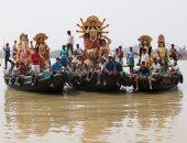 """صور.. الهندوس يحتفلون بيوم """"ماهالايا"""" فى الهند"""