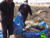 """شاهد.. أكبر مقبرة جماعية خلفها """"داعش"""" فى مدينة الرقة تضم 1500 جثة"""