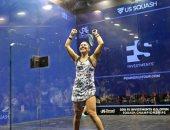 نور الطيب تخسر من اماندا صبحى 3/2 وتودع بطولة أمريكا المفتوحة للاسكواش