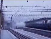 انهيار جسر بمقاطعة مورمانسك شمال غرب روسيا.. فيديو