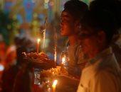 """صور.. انطلاق احتفالات مهرجان """"الموتى"""" فى كمبوديا"""
