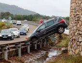 """""""غضب الطبيعة"""".. سيول عارمة تجتاح جزيرة مايوركا فى إسبانيا"""