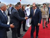 الرئيس السيسي يصل مطار شرم الشيخ عائدا من العاصمة الألمانية برلين