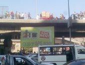 قارئ يشارك بصور لحادث سقوط سيارة من أعلى كوبرى ناهيا