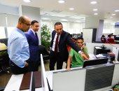 """صور.. رئيس """"المصرية للاتصالات"""" يزور اليوم السابع ويعقد ندوة عن مستقبل الشركة"""