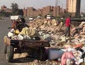فيديو.. كوبرى الأميرية يتحول إلى مقلب للقمامة ومخلفات البناء