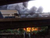 """""""ماس كهربائى"""".. النيابة تتسلم التحريات حول حريق مخزن تجارى فى 6 أكتوبر"""