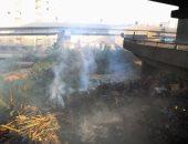 السيطرة على حريق بقطعة أرض داخل الكتله السكنية فى المحلة