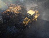 النيابة تنتدب المعمل الجنائى لمعاينة موقع حريق مخزن الأخشاب فى حدائق القبة