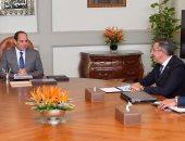 """السيسى يستقبل الرئيس التنفيذى لشركة """"بيدرينى"""" الإيطالية للرخام والجرانيت"""