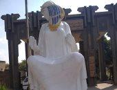 شاهد.. ماذا حدث لتمثال الفلاحة المصرية فى العمرانية؟