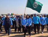 وزير الرياضة يطلق شارة بدء مهرجان اليوم العالمى للمشى ببانوراما الأهرامات