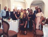 دانا حمدان تحتفل بعيد ميلادها فى منزل السفير الأردنى
