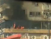 النيابة تعاين حريق شقة سكنية بمدينة الرحاب
