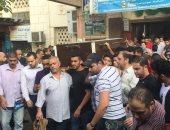 صور.. أبو رجيلة وعزمى مجاهد وعدد من الرياضيين فى جنازة محمد عباس