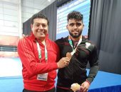 أحمد محمد يحرز الميدالية البرونزية للمصارعة الحرة فى أولمبياد الشباب