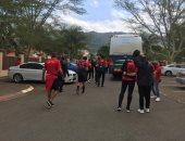 صور.. المنتخب يتحرك لملعب موفاسى لمواجهة سوازيلاند