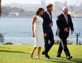 صور.. الأمير هارى وميجان ماركل يبدأن أول جولة خارجية بأستراليا منذ زفافهم
