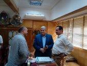 رئيس مدينة المحلة يجتمع بمدير الإدارة الصحية للتخلص من النفايات الطبية