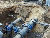 """صور.. """"مياة الأقصر"""" تنتهى من ضم خطوط المياه الرئيسية بمنطقة ميدان صلاح الدين"""
