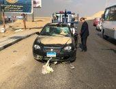 مصرع واصابة 4 أشخاص فى حادث انقلاب سيارة ملاكى بصحراوى البحيرة