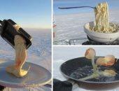 عناد الطبيعة.. شاهد ماذا فعل شتاء القطب الجنوبى فى طعام عالم فرنسى.. صور