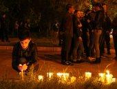 صور.. وقفة بالشموع بشبه جزيرة القرم الروسية بعد انفجار أودى بحياة 20 شخصا