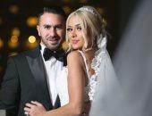 نجوم الفن والرياضة والإعلام فى حفل زفاف الطيار كريم جميل سعيد ووديان كاسب