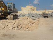 """صور.. أضخم مشروع لحماية """"  قلعة قايتباى """"  بالأسكندرية من التآكل.. أسامة الصياد : حواجز غاطسة داخل المياه للحفاظ على المبنى الأثرى .. وتأجيل طرح الممشى السياحى"""