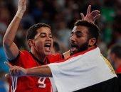 شاهد فرحة منتخب الصالات بعد الفوز على الأرجنتين والتتويج ببرونزية الشباب