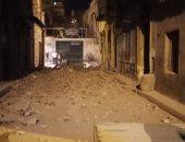 صور.. انهيار جزئى فى عقار خالى غرب الإسكندرية دون إصابات