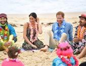 الأمير هارى وميجان ماركل يزوران شاطئ بوندى فى مدينة سيدنى بأستراليا