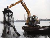 فيديو وصور.. إزالة 120حالة تعدى على أملاك الدولة وأقفاص سمكية بنهر النيل
