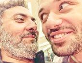 صور.. سيلفى ضاحك بين كريم محمود عبد العزيز وفتحى عبد الوهاب