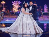 صور.. شاهد رسائل شيماء سيف إلى ضيوف حفل زفافها
