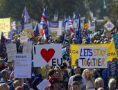 """570 ألف شخص يتظاهرون فى لندن للمطالبة باستفتاء ثان حول """"بريكست"""""""