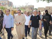 محافظ المنوفية يتفقد قرية كفر داود بمدينة السادات