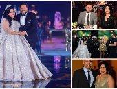 بعد ما طلت بالأبيض.. ناقد موضة يحلل إطلالة شيماء سيف والفنانات فى حفل زفافها
