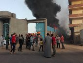 إصابة 5 باختناقات شديدة فى حريق مصنع القطن بمركز المحلة